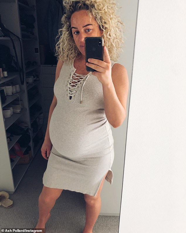 Hurry up!Ash Pollard (pictured) is set to welcome her first child with partner Pete Ferne any day now. In fact, the 34-year-old has revealed the bub is already overdue. She shared the above selfie on Saturday and joked that her baby is tardy like their mother