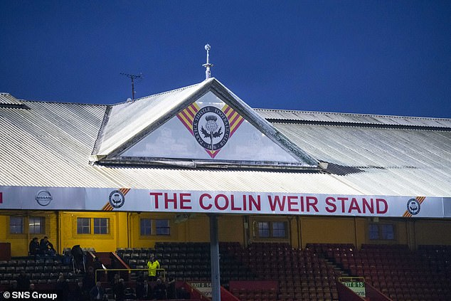 Mr Weir gave Partick Thistle FC a £2.5 million investment shortly after his win and more financial backing. A section of Firhill Stadium was named the Colin Weir Stand (above)