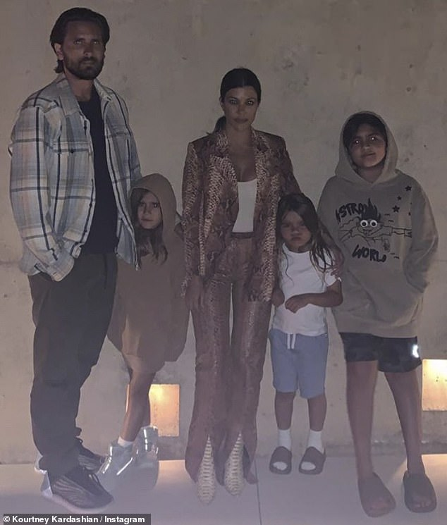 Co-parenting goals: The exes certainly spent a lot of time with their quarantined children, following his split from girlfriend Sofia Richie, 22, in May
