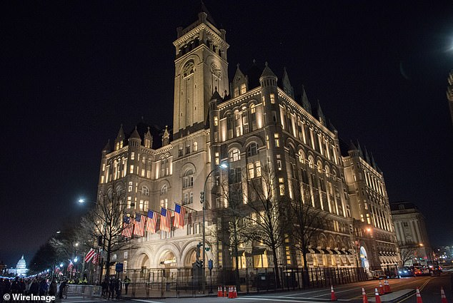 One property listed in the report is the Trump International Hotel in Washington D.C. (pictured), which Trump officially opened in 2016