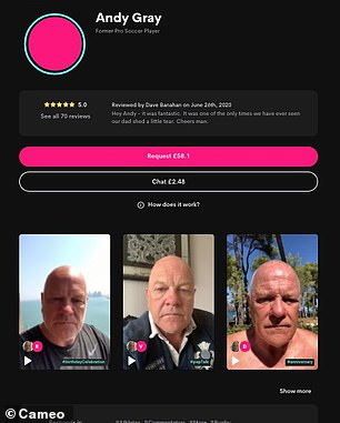 Andy Gray's profile on Cameo
