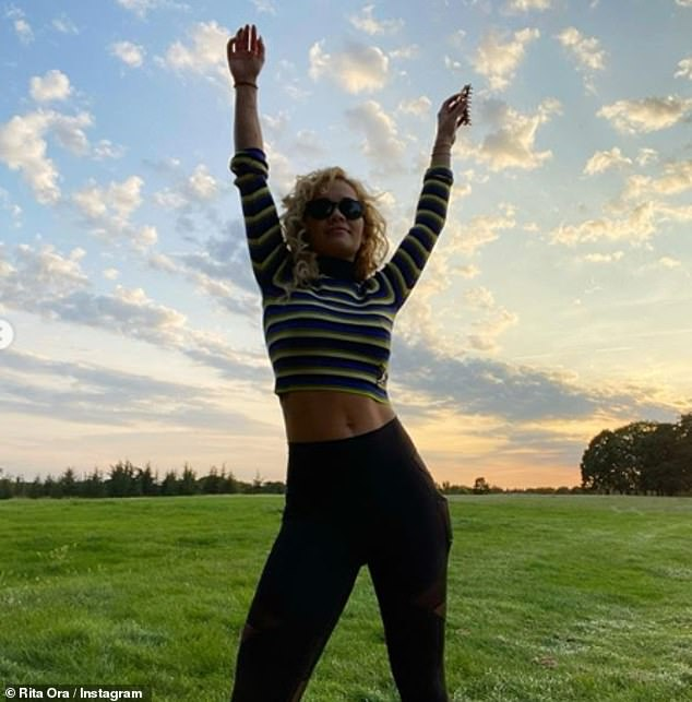 The contemplative singer said to her followers: 'Just remember to go outside to breathe in the fresh air even in the midst of work spend time with yourself do what makes you feel good'