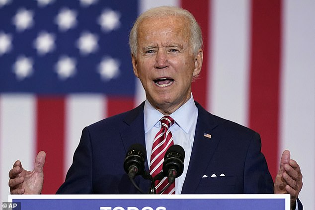 Democratic presidential candidate former Vice President Joe Biden leads President Donald Trump 50 to 41 per cent in a new NBC / Wall Street Journal poll