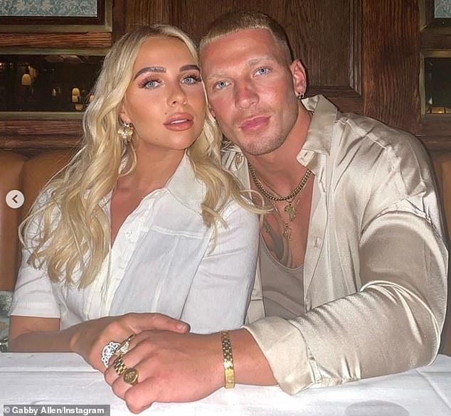 New romance: Her post comes weeks after she was confirmed her romance with Ex On The Beach hunk Brandon Myers, 23