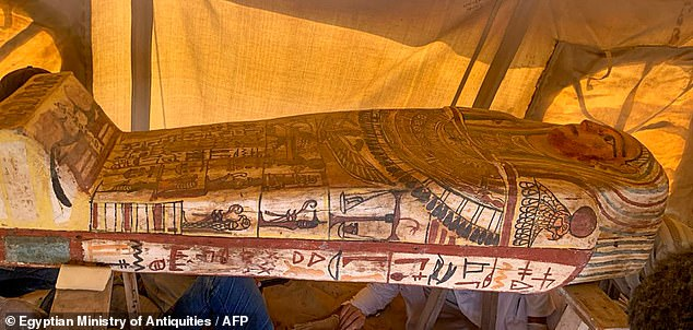 Sarcophagi have been buried underground for 2,500 years.  13 were discovered earlier this month before another 14 were discovered