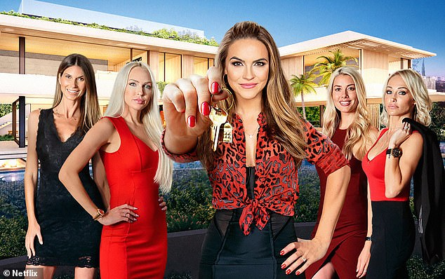 The cast of Netflix hit show Selling Sunset. Left to right: Maya Vander, Christine Quinn, Chrishell Stause, Heather Rae Young and Mary Fitzgerald