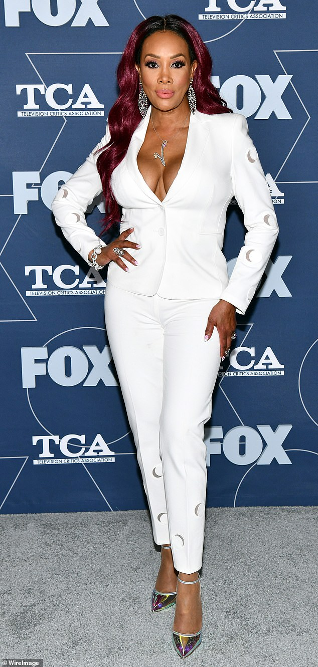Stayed home: Vivica A. Fox, pictured in January, had to withdraw from co-hosting E!'s Live From The Red Carpet Emmys pre-show Sunday after testing positive for COVID-19