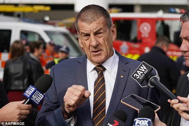 Fellow footy heavyweight and former Victorian premier Jeff Kennett called McGuire's behaviour a 'hell of a contradiction', despite the fact the Channel Nine personality in no way breached the government or the AFL's rules