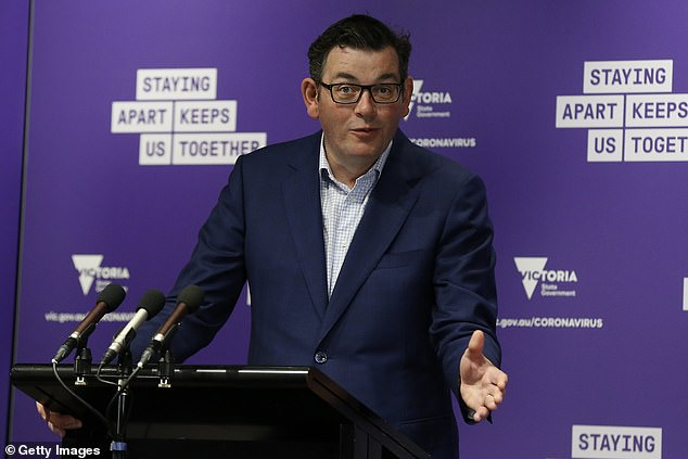 Daniel Andrews (pictured) is being urged to relax lockdown restrictions ahead of schedule after Victoria recorded only 11 new cases of coronavirus on Monday
