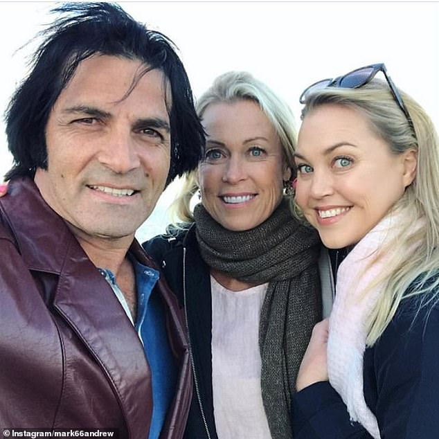 'You were loved': Lisa Curry's (centre) husband, Mark Andrew Tabone (left), has joined the rest of his grieving family in paying tribute to his wife's eldest daughter, Jaimi Kenny (right)