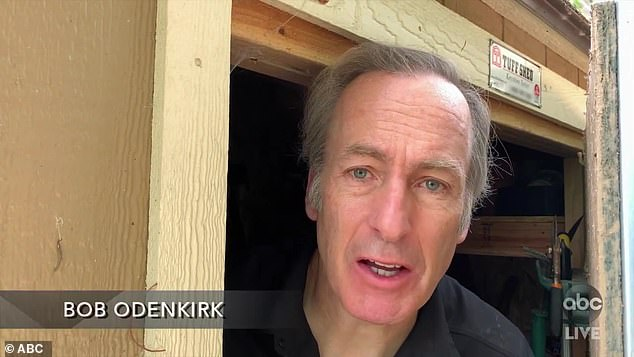 Shed life:Better Call Saul star Bob Odenkirk quietly opened the door to his garden shed, where he's been living, 'to avoid my family'