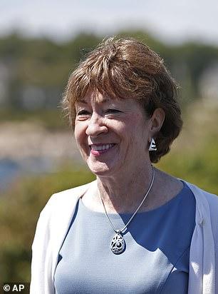 Pictured: GOP Sen. Susan Collins of Maine