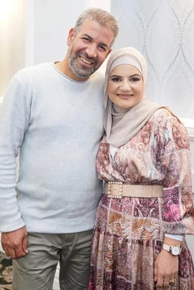 Waled Youssef, 45, is a dual Australian and Egyptian citizen who runs a cement rendering business in Sydney after migrating to the country (pictured with wife Fadia)