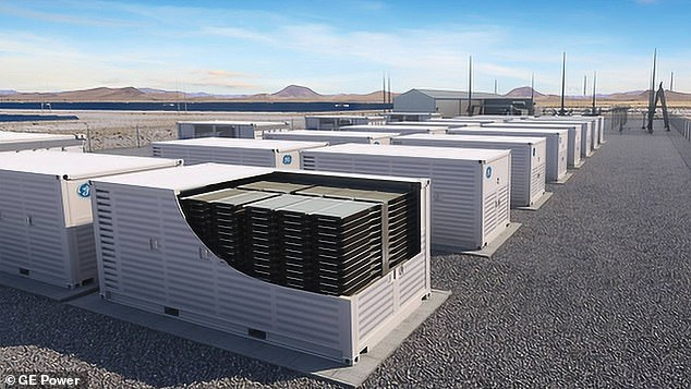 Energy Minister Angus Taylor will identify the technologies he will target, including hydrogen and electricity storage (pictured is a computer-generated image of battery storage)