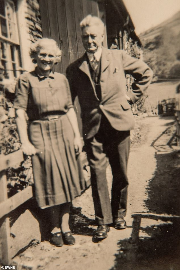 Vera's parents, Rosemary and Bob (pictured in around 1940), moved onto Wansfell Terrace with babies Mary and Vera - paying just shillings in rent.