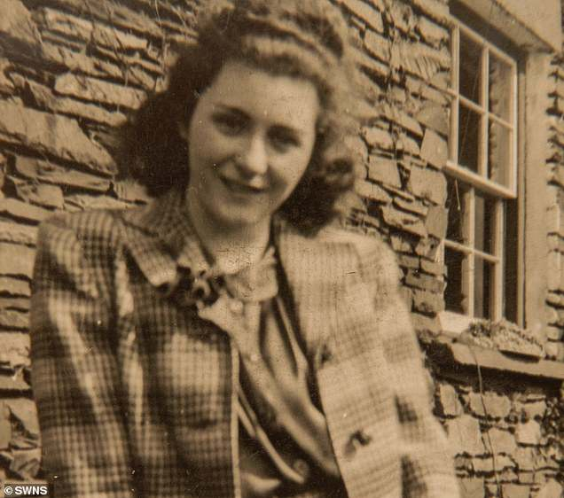 Vera Bunting pictured outsider her home in around 1940