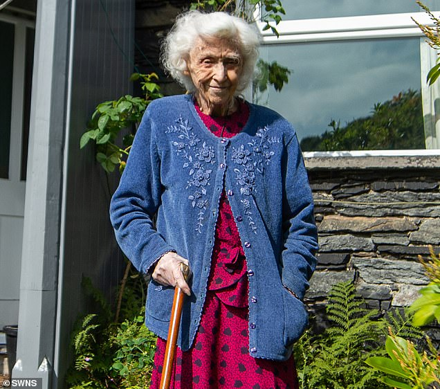 Vera Bunting pictured outside her home this week