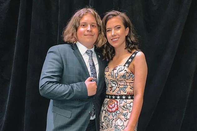 Chelsea Ireland (right) and Lukasz K¿osowski (left), both 19, were shot on August 23 after an argument at a family gathering in Mount McIntyre, South Australia