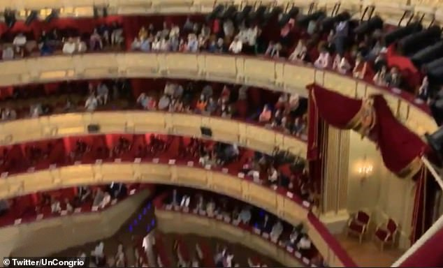 Teatro Real also said that the spectators were offered the opportunity to switch seats or accept a refund before the opera got underway