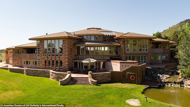 The home has three million pounds of stonework on it exterior. It also has a guest house attached to it, accessible via overpass