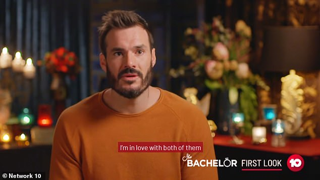 Unconfirmed: Daily Mail Australia has heard whispers that Locky, 31, is rejected by his winner, and then begs his heartbroken runner-up for another chance. Promos for the season appear to support this, as Locky admits he has fallen in love with both finalists