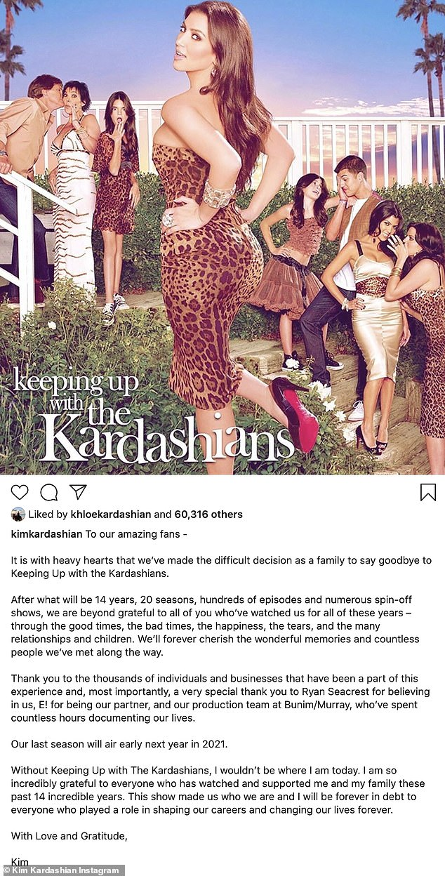 The End: Kourtney prepares to say goodbye to KUWTK for good, when they air their 20th and final season, after 13 years on E!