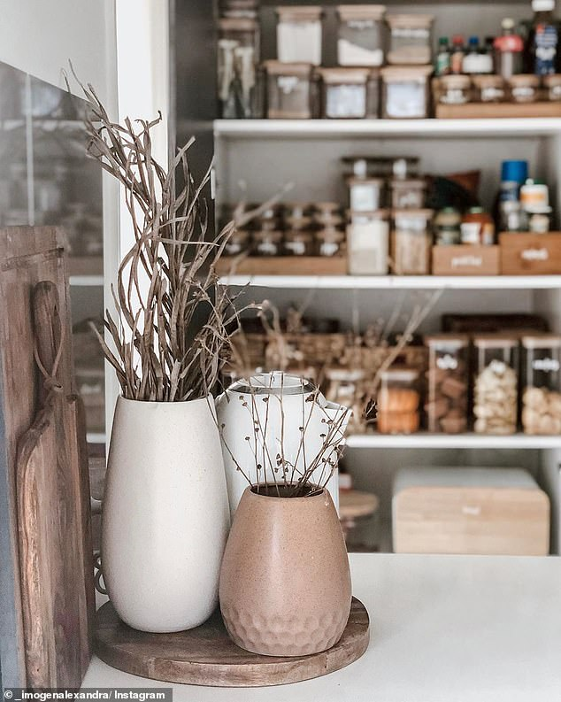 Thousands of customers are flocking to The Reject Shop for all their modern home décor. One mother purchased a $12 white and $9 brown vases that looks considerably more expensive than its affordable price tags