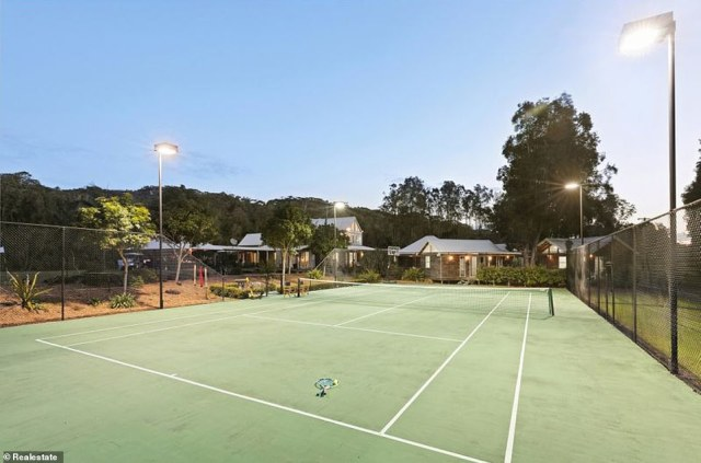 The property's tennis court is completely floodlit to play at night. Christie's International Real Estate agent Bruce Eason said it could be used for a tennis camp, a wedding venue, a golf or yoga retreat, wellness spa or eco lodge