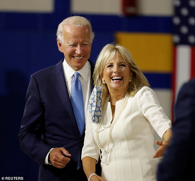 The way the Bidens tell their story, Joe saw a picture of Jill in March 1975 — after her marriage crashed — and they went on a date and have been together since