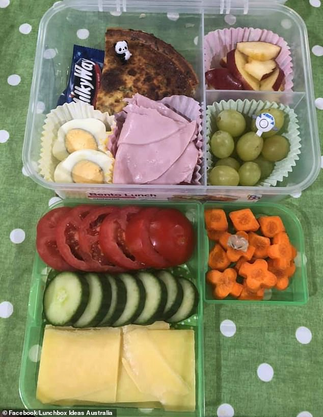 The lady cuts up multiple fruits and vegetables for her hardworking partner, organising them into bento lunchboxes so he can easily eat each piece on the go
