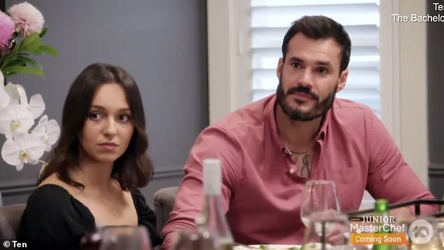Is her fate sealed? Eagle-eyed Bachelor fans have noticed a telling clue that strongly suggests Bella Varelis (left) doesn't win Locky Gilbert's (right) heart