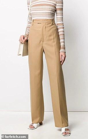 Splurge: Bottega Veneta's$1,390 high-waisted tailored trousers