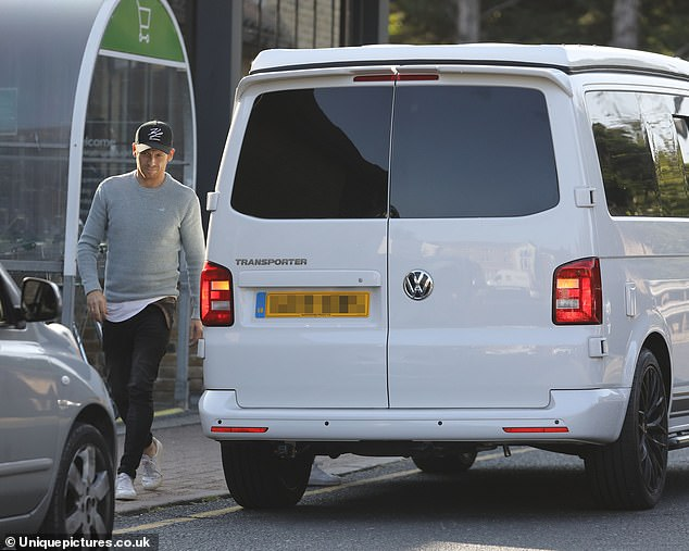 New wheels:The couple took their brand new Volkswagen T6 camper van with them after Joe purchased it as a surprise to his girlfriend and their family