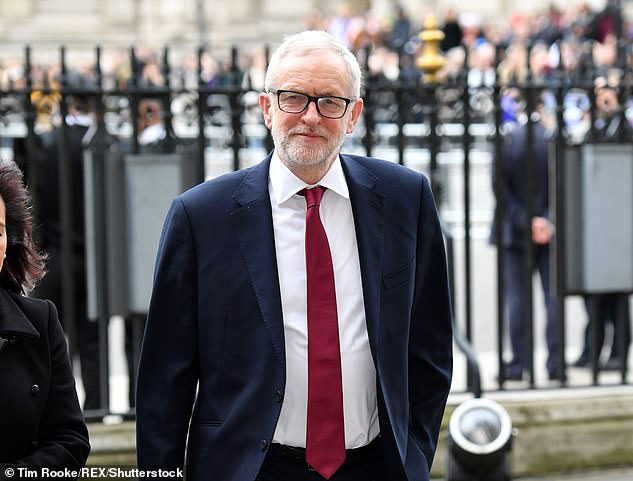 Former leader Jeremy Corbyn at the Commonwealth Day Service, Westminster Abbey, in March this year