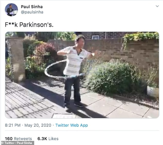 Impressive:Back in May, Paul declared 'f**k Parkinson's' as he shared a defiant post amid his health battle