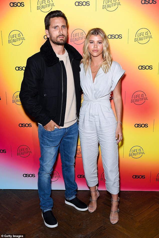 Over: Scott and Sofia called it quits on their relationship earlier this year after dating for more than two years; seen in 2019