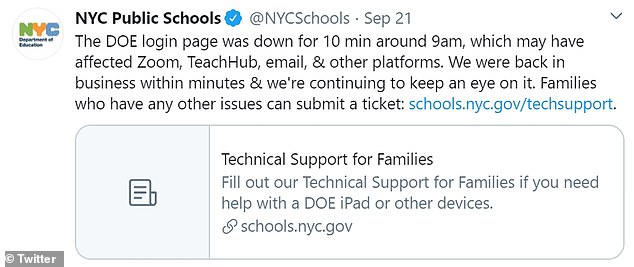 Monday's start to the school year was plagued with technical difficulties after the students online portal crashed for several minutes at the start of the day