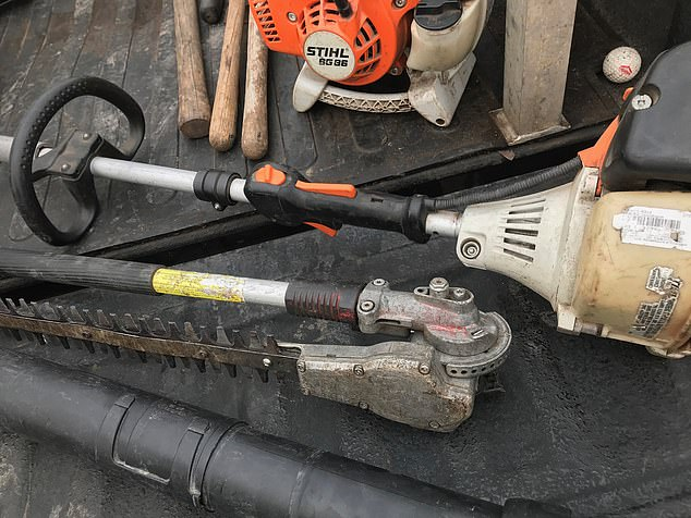 The yard tools found in Nichols' car had been reported stolen