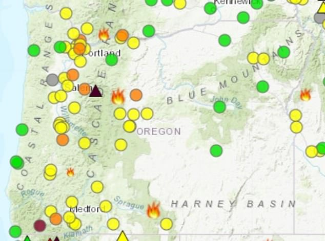 The fires have also left many residents with air quality warnings