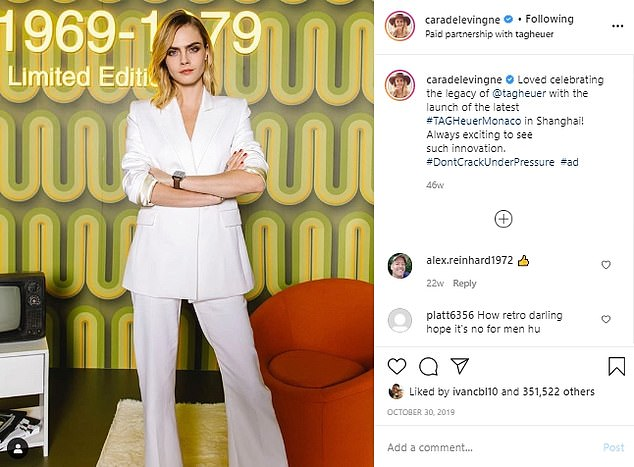 Cara Delevingne is the UK¿s highest-paid model and her posts include several marked as a paid partnership with sports brand Puma, for whom she endorses her own range