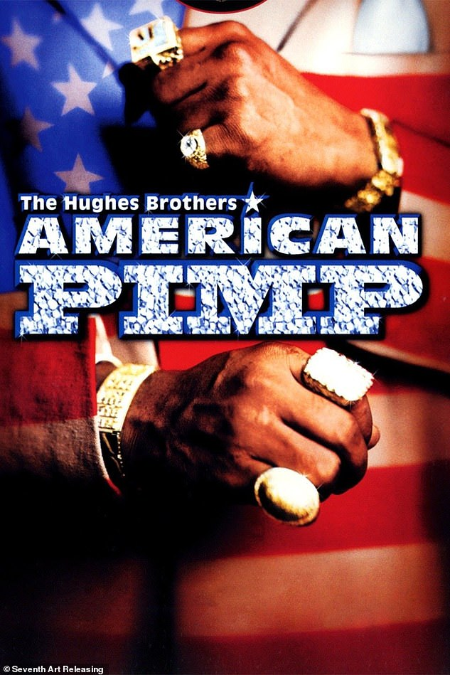 Taylor's escapades as the pimp 'Gorgeous Dre' were featured in the documentary 'American Pimp' (pictured). It was then used to convict him in 2000