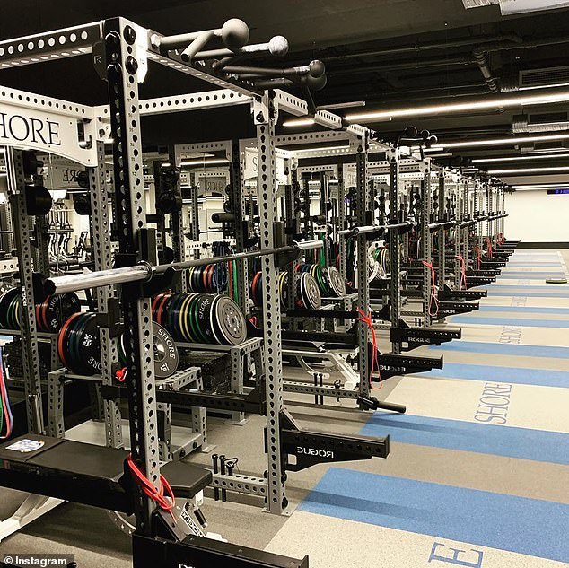 Students first created headlines recently after bragging about the school's facilities, which includes a state-of-the-art gym (pictured)