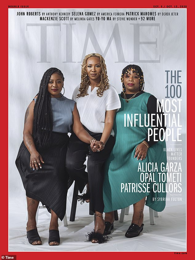 Black Lives Matter founders Patrisse Cullors, Alicia Garza and Opal Tometi also earned a cover