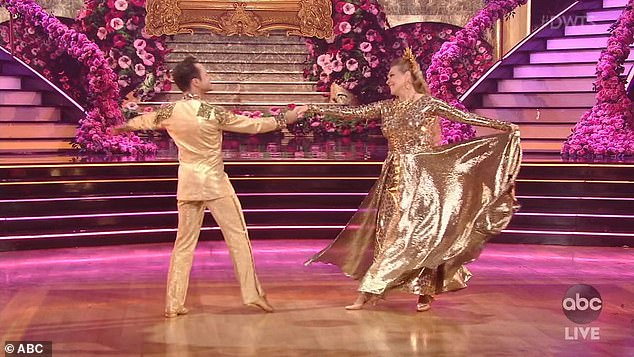 Viennese waltz:The big cat rights activist tried to move up in the rankings this week, yet scored just 16 points for her Viennese waltz to Tom Jones' What's New Pussycat