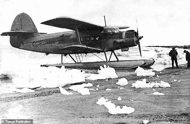 The aircraft, pictured in service, was accustomed to flying in high latitudes and hastwo floats