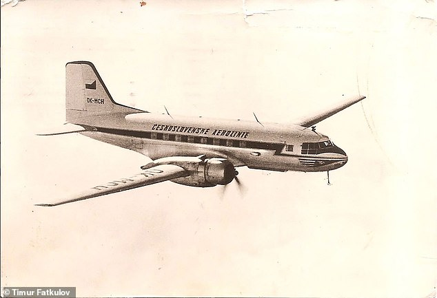 The Pisek wasa version of the Il-14 manufactured in Czechoslovakia which later became СССР-61713 after it was handed to the Soviet Union