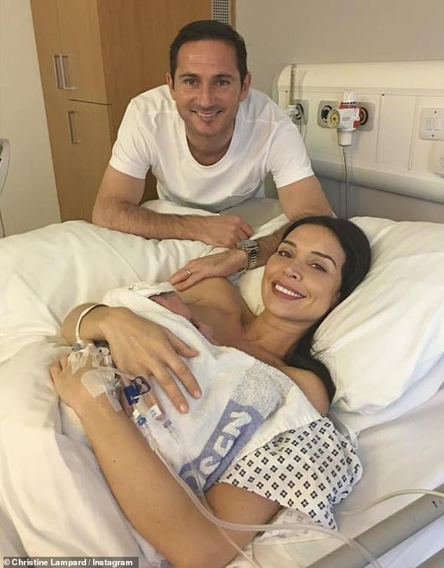 Sweet:Christine and Frank are already proud parents to daughter Patricia, who was born in September 2018 (pictured at her birth)