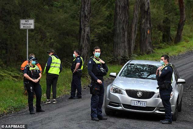 Police blocked off this road in Yarra Junction after William Wall's body was found