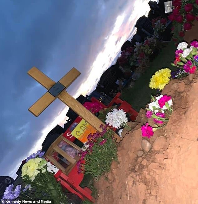 Flowers and tributes laid at Sam Tyler's grave after his mother says he took his own life in May