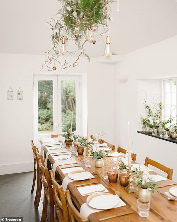 For a particularly intimate wedding breakfast, couples may be interest in Treseren, in St Newlyn East, Cornwal, which is licensed for civil ceremonies in their gardens and their wedding room